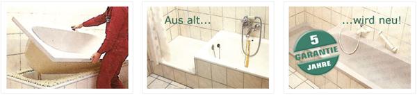 Wannenwechsel - Badewanne erneuern ohne fliesen beschädigen